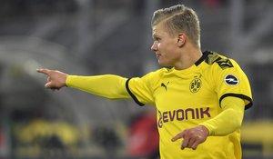 El delantero noruego Haaland durante un partido con el Borussia Dortmund.