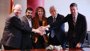 Firma del acuerdo de representatividad en marzopasado.
