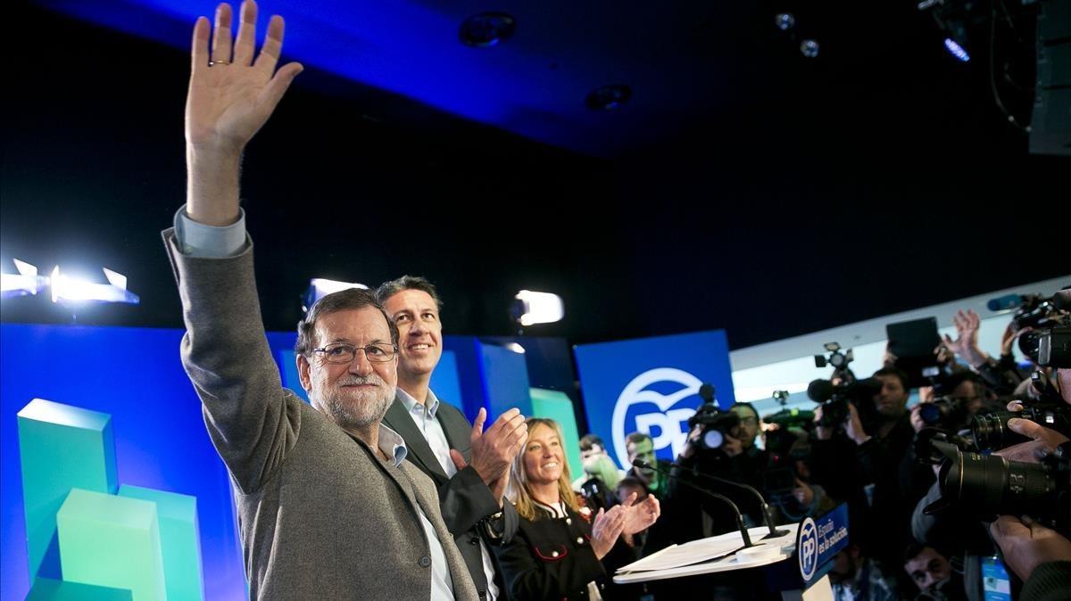 Acto del presidente del Gobierno, Mariano Rajoy, en la Llotja de Lleida.