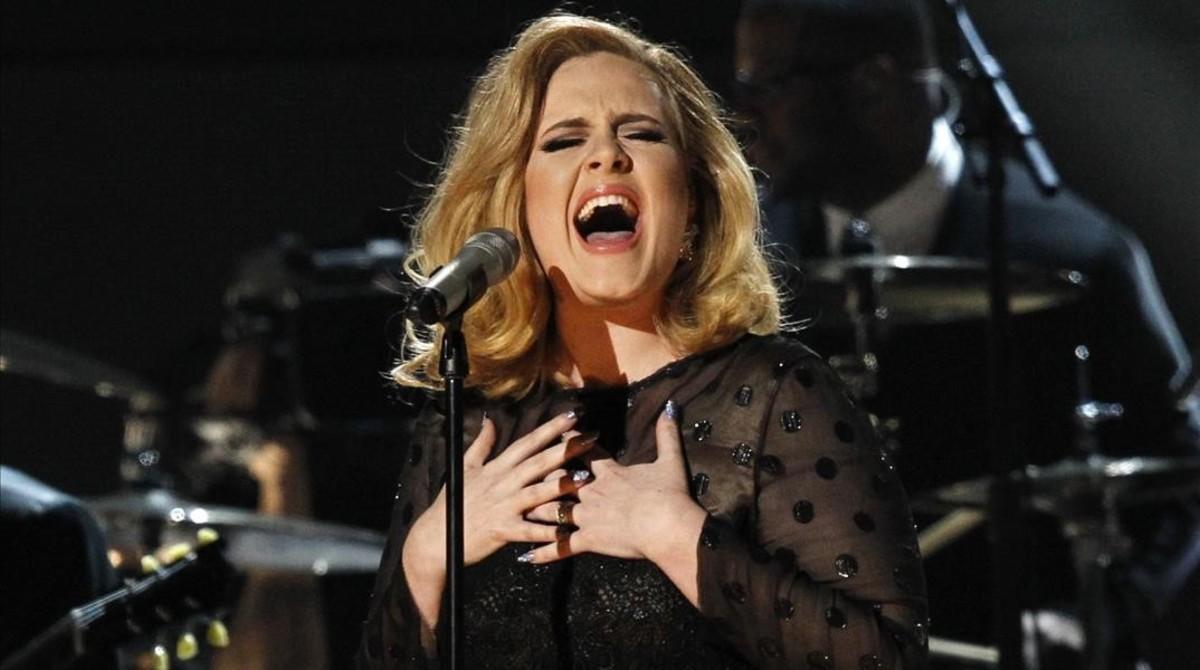 Adele, en la gala de los Grammy celebrada el 12 de febrero en Los Ángeles.