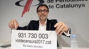 Agustí Benedito en la comparecencia de prensa en la que anunció la presentación de la moción de censura.