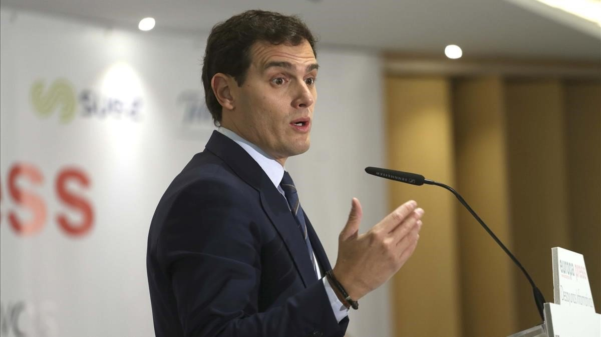 Albert Rivera durante el Desayuno Informativoorganizado por Europa Press.