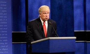 Alec Baldwin, caracterizado como Donald Trump en 2017.