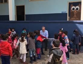 Visita de César Alierta al Líbano, durante la puesta en marchadel programa ProFuturo.