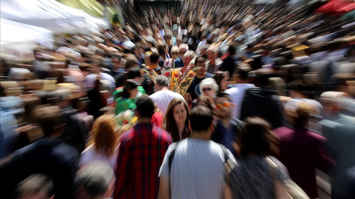 Ambiente del Día de Sant Jordi del pasado año.