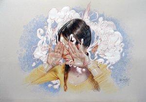 Ana Langeheldt, la delicada artista sevillana expone 'Acrobacia visceral'.