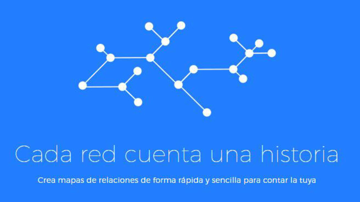 La app Onodo permite crear mapas relacionales.