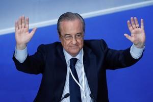 El presidente del Real Madrid, Florentino Perez, durantela Asamblea General del club.