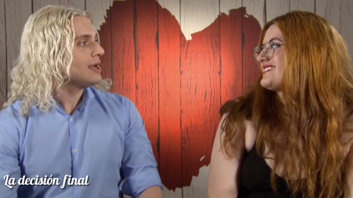 Balder y Mariana en 'First Dates'.