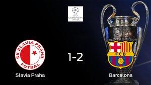El Barcelona vence al Slavia Praha en el Sinobo Stadium (1-2)