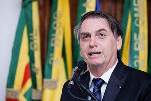 El presidente de Brasil, Jair Bolsonaro en conferencia de prensa. EFE