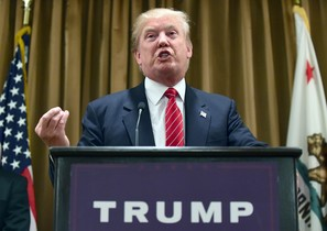 El candidato republicano y magnate inmobiliario Donald Trump, el pasado 10 de julio, durante una rueda de prensa.