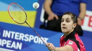 Carolina Marín, durante un torneo disputado este año