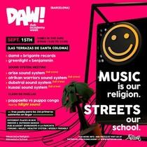 Cartel de la Dub Academy Week en Les Terrasses de Santa Coloma de Gramenet.