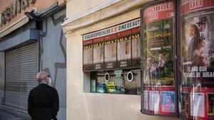 Un cine cerrado como consecuencia de las restricciones