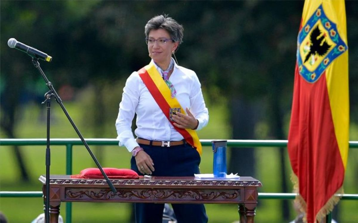 Claudia López, alcaldesa de Bogotá, Colombia.