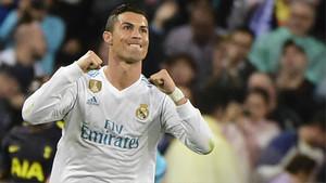 Cristiano Ronaldo celebrando un gol ante el Tottenham en la Champions League