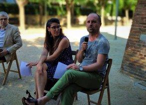 Cristina Madrid y Eloi Aymerich, de Clack, en la presentación del festival 'Nosaltres'.