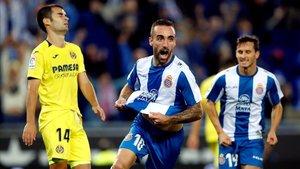 Darder celebra su gol ante el Villarreal.