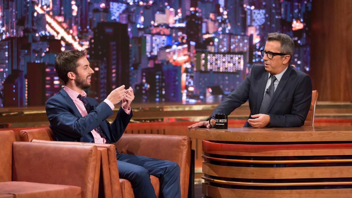 David Broncano con Andreu Buenafuente en Late motiv.