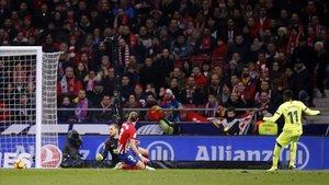 Dembélé anota el gol del empate ante el Atlético el sábado.