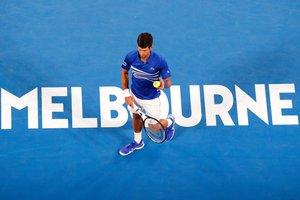 Djokovic durante su partido ante Tsonga.