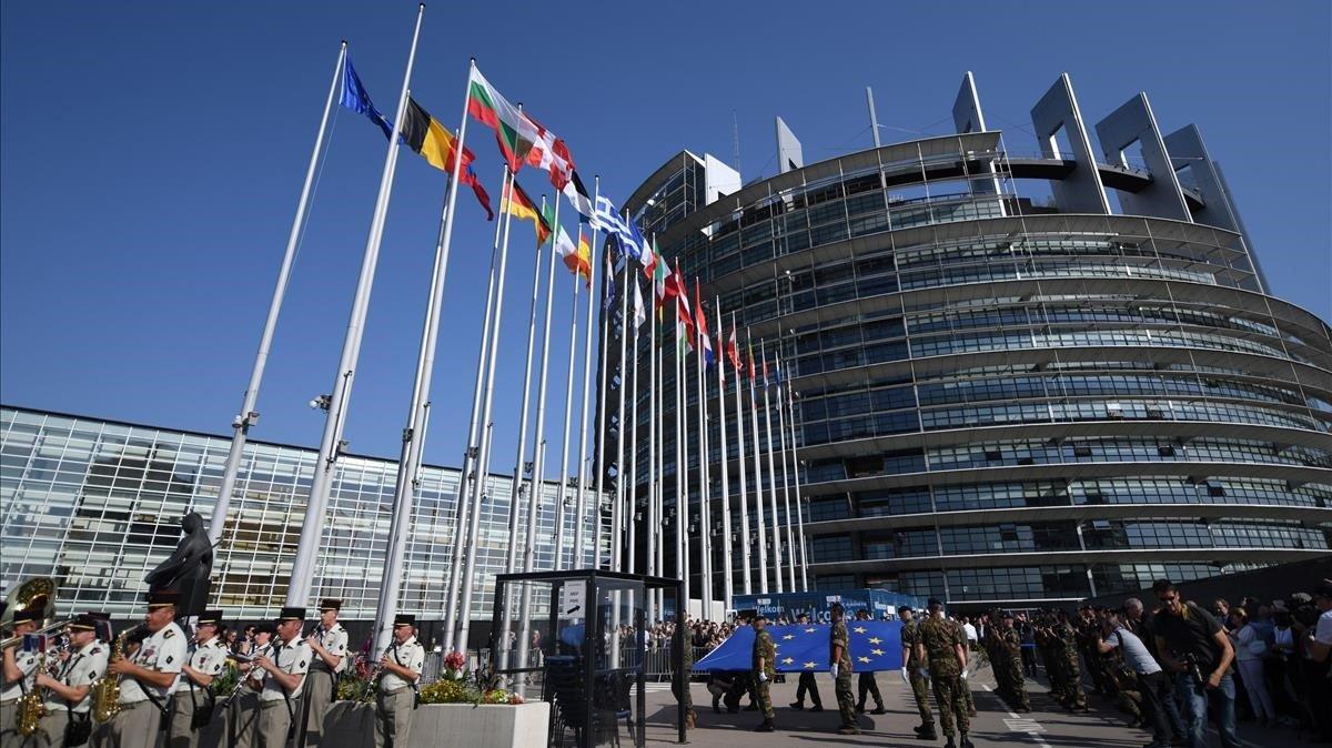 El edificio Louise Weiss, sede del Parlamento Europeo en Estrasburgo.