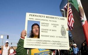 Protestas de inmigrantes legales en los Estados Unidos.