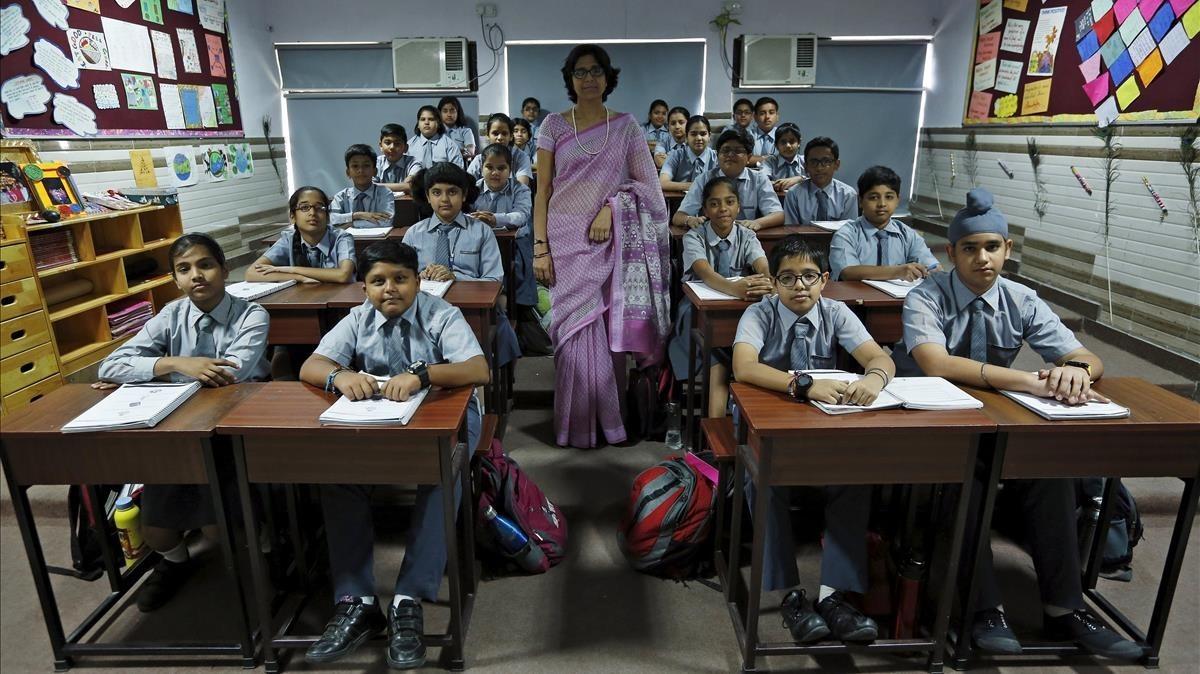 Escuela pública en Nueva Delhi, India.
