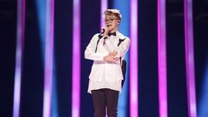 El cantante de la República Checa Mikolas Josef, durante los ensayos de su actuación en el Festival de Eurovisión, en Lisboa.