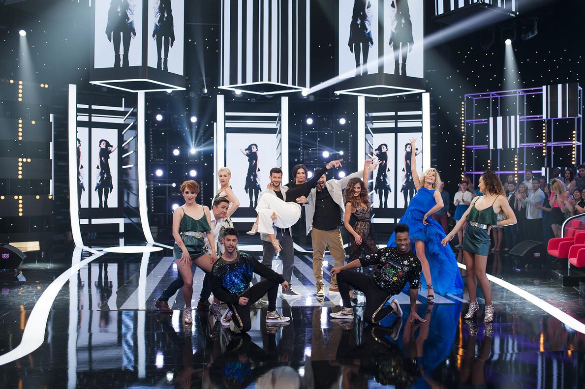 Nuria Roca, en el último programa de la temporada de 'Fantastic duo' (TVE-1).
