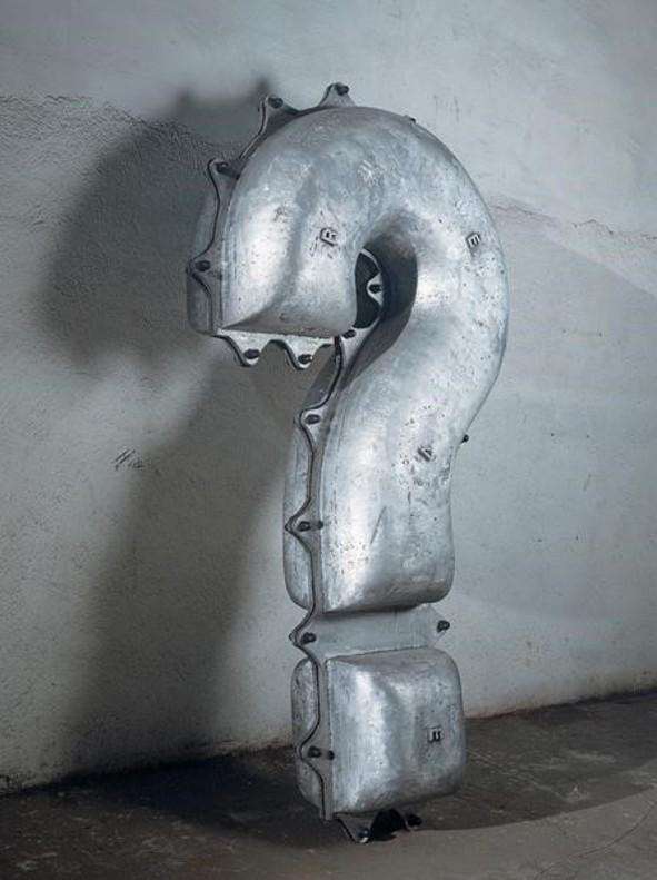 Firenze II (1992), de Jaume Plensa, para la exposición del 2018 en el Macba.
