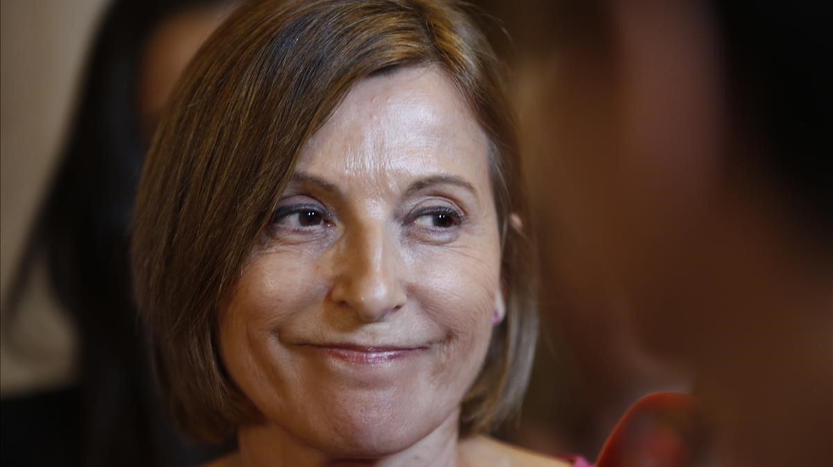 La expresidenta del Parlament Carme Forcadell, en una imagen de archivo