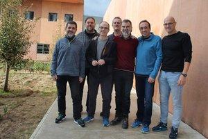 Fotografía de los políticos presos en la cárcel de Lledoners