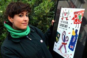 Marina Sáez Rubio, ganadora del concurso de carteles de Gràcia.