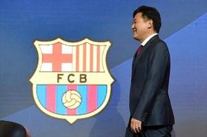 Hiroshi Mikitani, en la presentación del acuerdo entre Rakuten y el Barça.