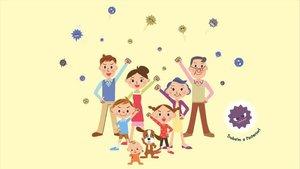 Ilustración de la portada de 'Rosa contra el virus'.