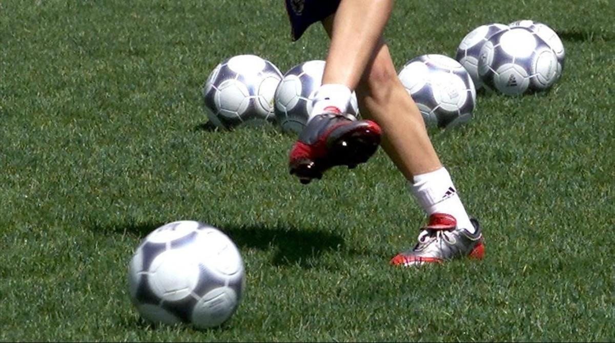 Imagen de un entrenamiento de la selección femenina de fútbol.