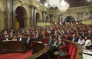 Imagen de un pleno del Parlament de Catalunya.