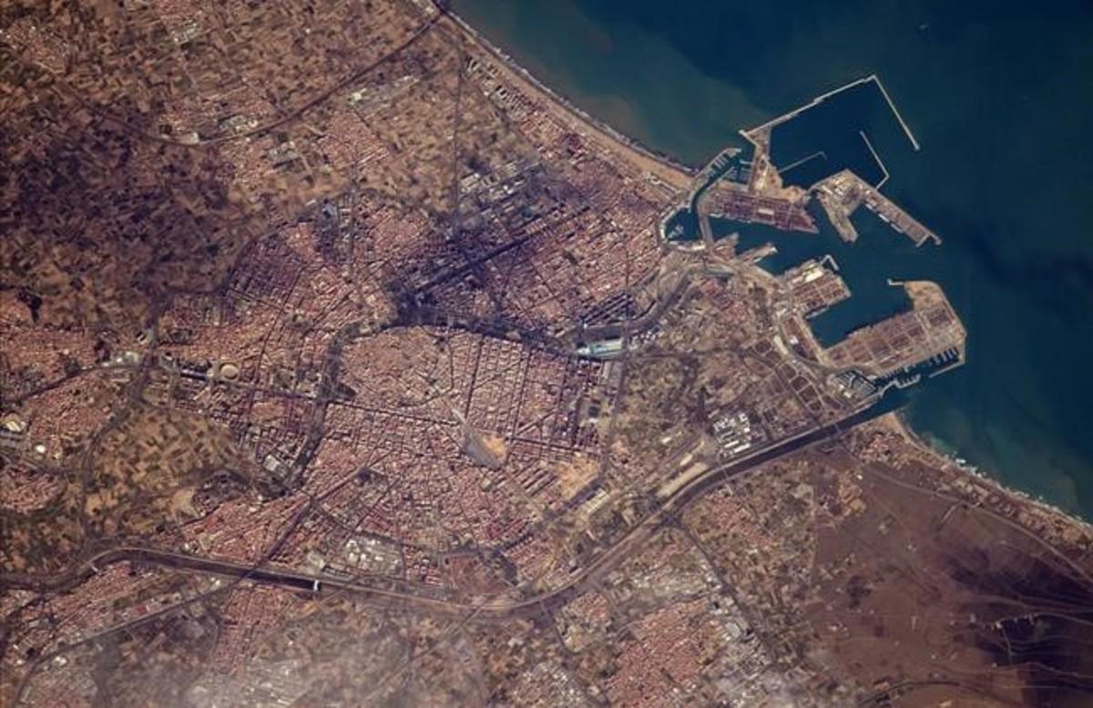 Valencia vista desde el espacio