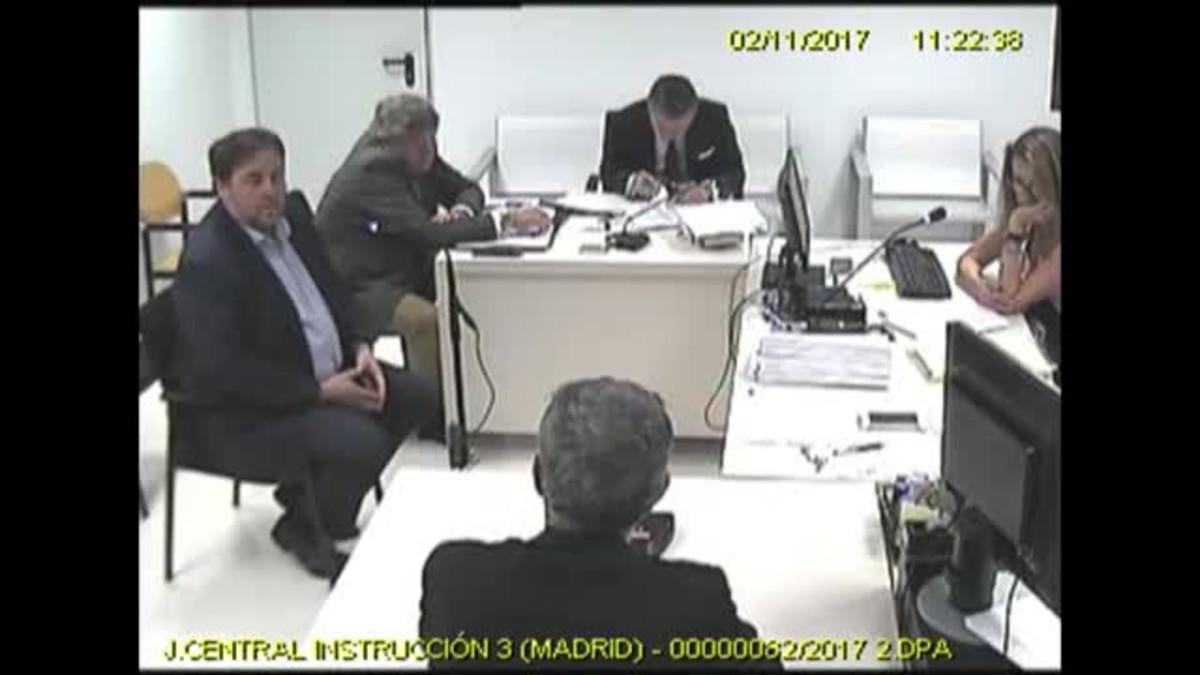 Imágenes de las declaraciones de Oriol Junqueras, Joaquim Forn y Santi Vila ante la jueza Lamela.