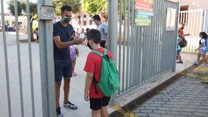 Inicio del curso escolar en una escuela de Viladecans