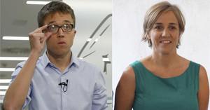 Íñigo Errejón y Tania Sánchez juntos en un fotomontaje.