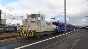 Instalaciones de la empresa de trenes Transfesaperteneciente al grupo aleman Deutsche Bahn.