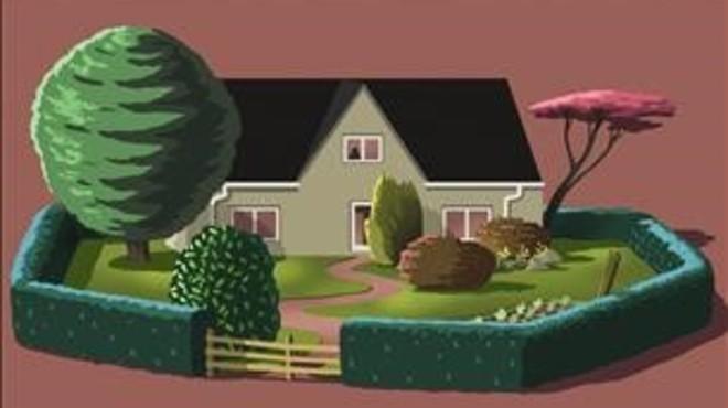 Mujer con jardín