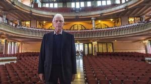 Raimon, en la presentación de su gira de despedida, este viernes en el Palau de la Música.