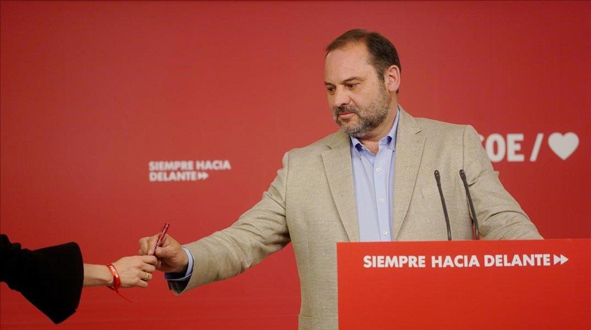 José Luis Ábalos, el pasado 17 de mayo en la sede del PSOE.