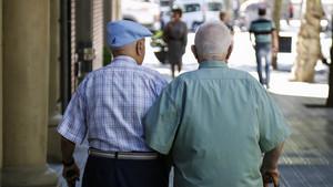En España actualmente hay un jubilado por algo más de tres trabajadores.