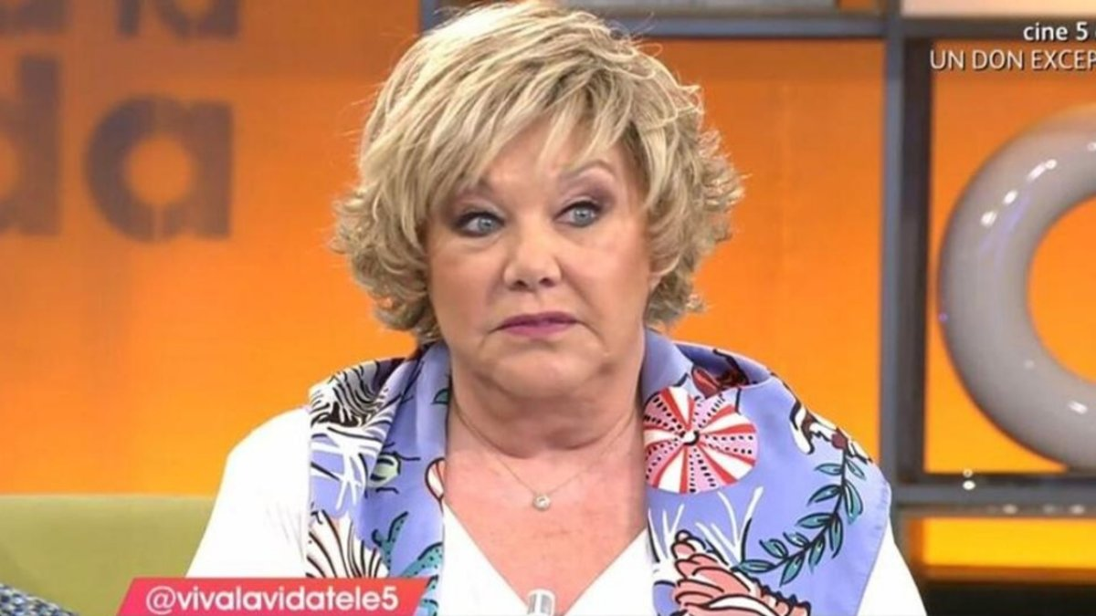 Karina en el plató de 'Viva la vida'.
