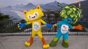 Las mascotas de los Juegos Olímpicos y Paralímpicos de Río 2016.
